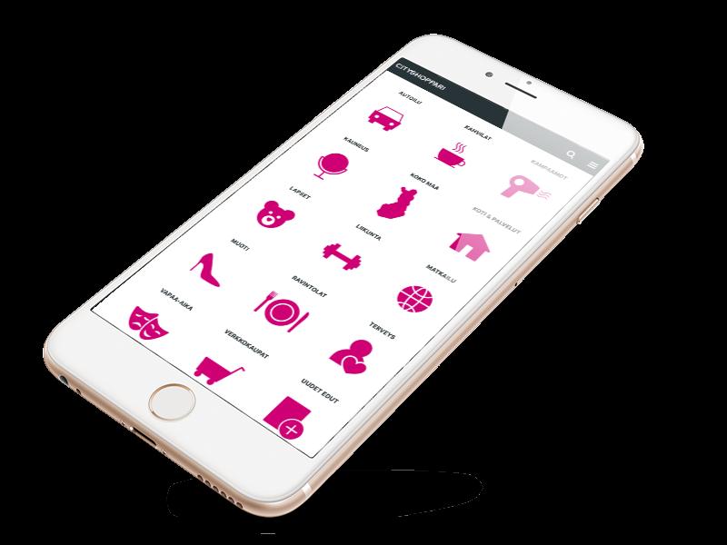 CityShoppari website on mobile