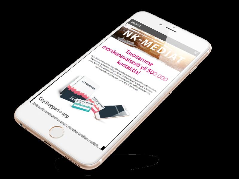 NK-mediat.fi mobile frame